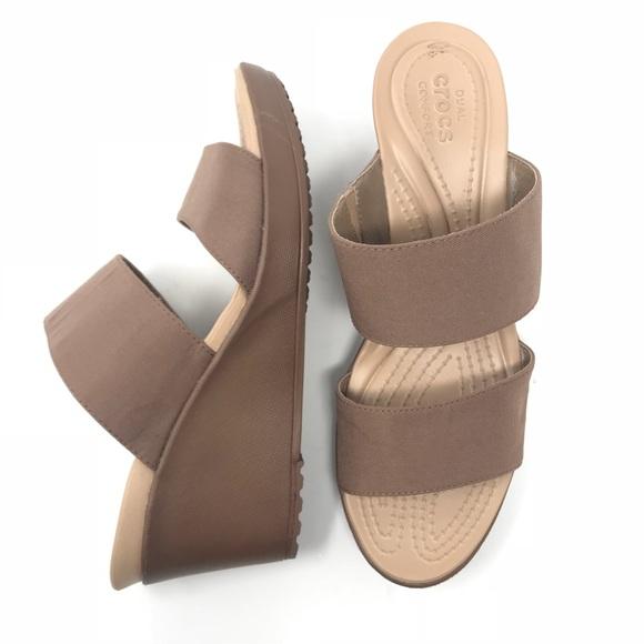 a357b699d0 CROCS Shoes | Dual Comfort Wedge Sandal 10 Womens | Poshmark